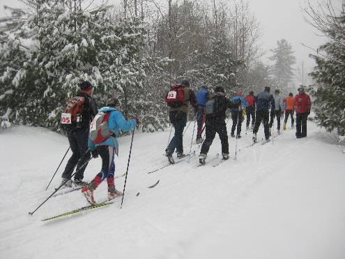 Nordic ski race at Maine Huts & Trails
