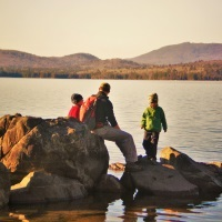 Fall Hike at Flagstaff Lake in Maine