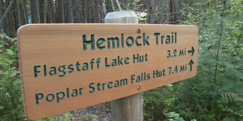 Hemlock Trail signage