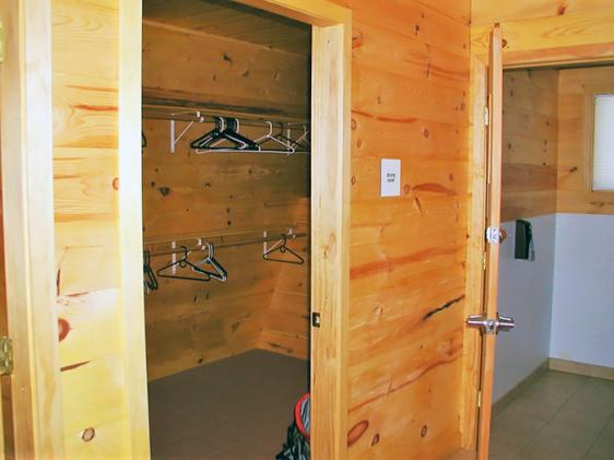 Hut drying room