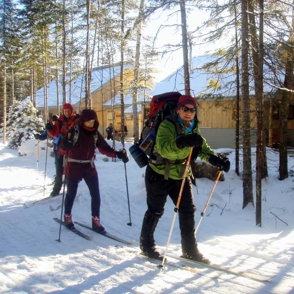 Cross-country skiers enjoy fresh tracks.