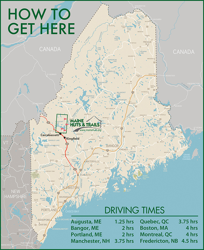 maine huts and trails map Maine Huts Trails How To Get To The Trail Heads maine huts and trails map