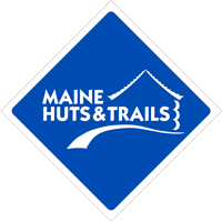 Maine Huts & Trails blue sign