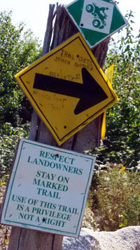 Miscellaneous trail signage in Western Maine