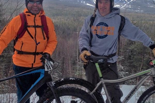 Fat Biking to Stratton Brook Hut