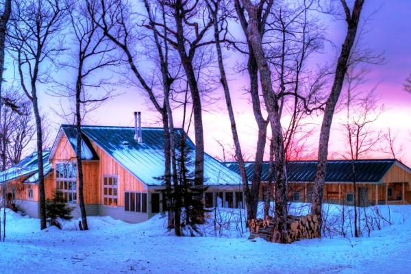 Stratton Brook Hut at Sunset by John Orcutt