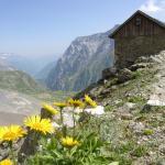 Grunhorn hut in Switzerland