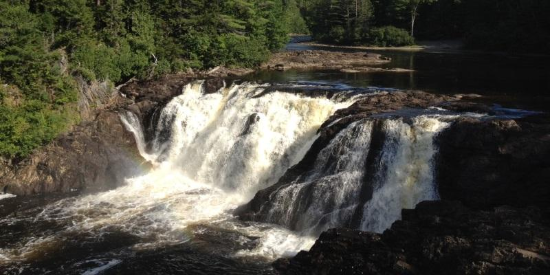 Hiking in Maine at Grand Falls