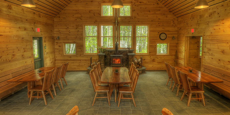 Main Room of Flagstaff Lake Hut by John Orcutt