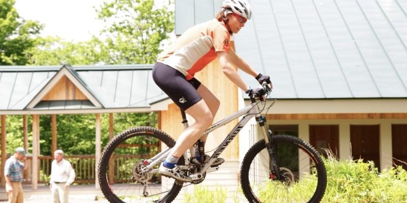 Women Mountain Biking in Maine