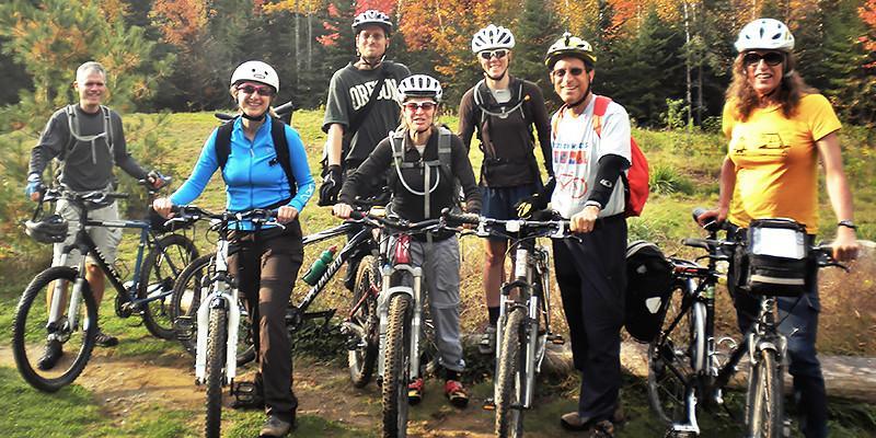 Bike club at Maine Huts & Trails