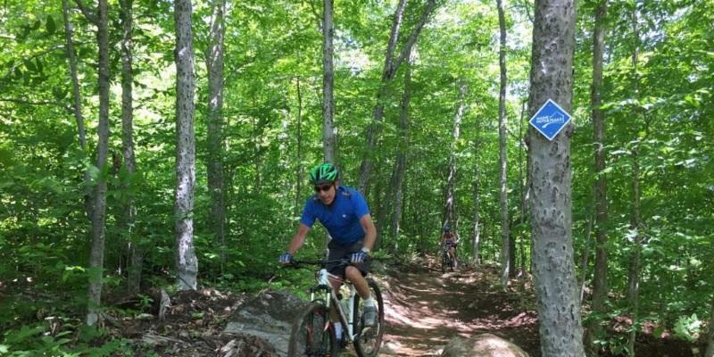 mountain biking hut to hut in Maine