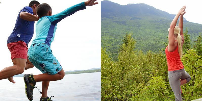 Swimming; yoga retreat
