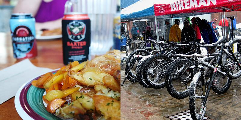 Food and microbrews; fat bikes for winter biking