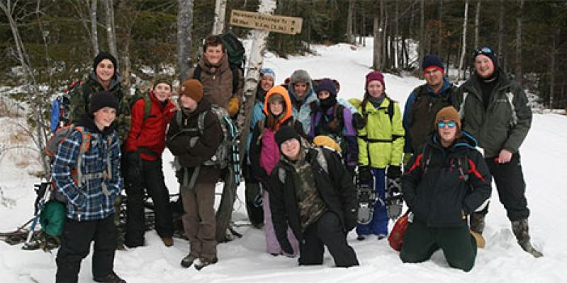 School group at Maine Huts & Trails