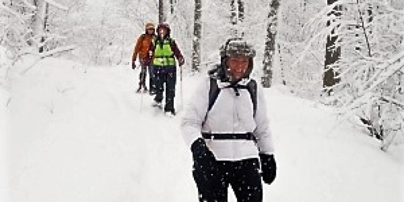 Guided Snowshoe in Maine